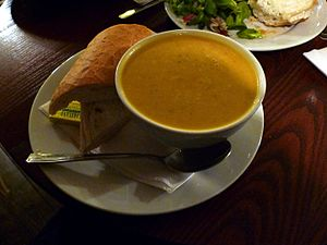 Squash soup - A roasted butternut squash soup