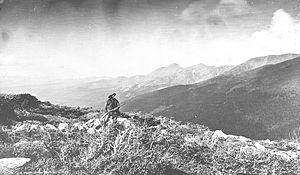 Berthoud Pass - Harry Yount at Berthoud Pass in 1874