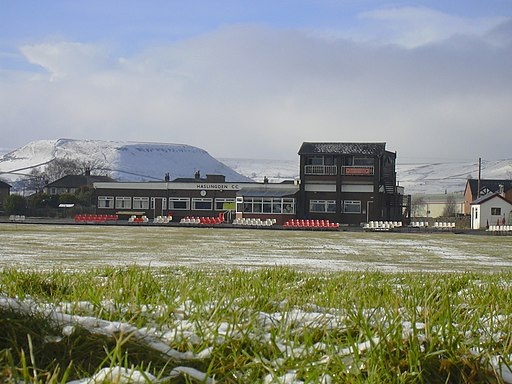Haslingden Cricket Club and Musbury Tor - geograph.org.uk - 1714025