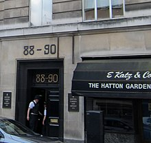 Police At Hatton Gardens Safe Deposits