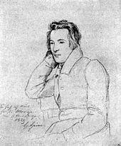 Heinrich Heine (1829), Zeichnung von Franz Theodor Kugler (Quelle: Wikimedia)