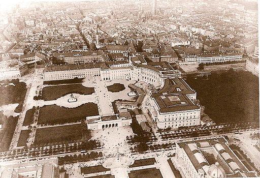 Heldenplatz Luftaufnahme 1900