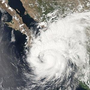 Hurricane Henriette (2007) - Hurricane Henriette making landfall on the Baja California Peninsula.