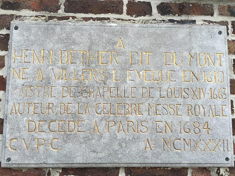 Henry de Thier, dit Henry Du Mont