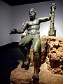"""Hercules Epitrapezios (=on table)"""" from Pompeii - bronze 1st century AD from the original by Lysippus (4th century BC) - Exhibition """"Hero"""" up July 31, 2018 at Archaeological Museum of Naples.jpg"""