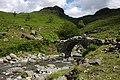 Herdwick sheep crossing Lingcove Bridge - geograph.org.uk - 493838.jpg