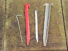 Types of tent pegs[edit] & Tent peg - Wikipedia
