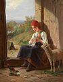 Hermann Sondermann - Strickendes Mädchen (1891).jpg