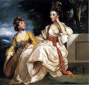 Beaverbrook Art Gallery - Portrait of Mrs. Thrale and her Daughter Queeney by Joshua Reynolds
