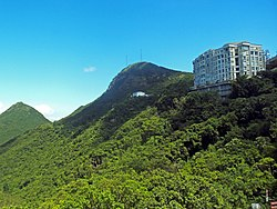 View showing Victoria Peak with High west to the left and The Mount Austin to the right