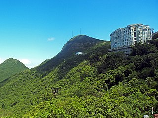 Victoria Peak mountain in Hong Kong