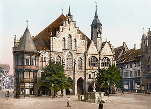 Photochrom of Hildesheim townhall