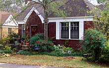 A small, one-story brick-faced house with a small yard in front. This house is located in Little Rock, Arkansas. Hillary Rodham and Bill Clinton lived in this house when he was Arkansas Attorney General from 1977 to 1979.