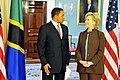 Hillary Clinton meets with Tanzanian President Jakaya Kikwete, May 2009-3.jpg