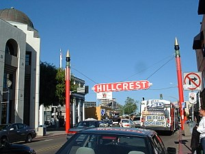 Hillcrest, San Diego - The Hillcrest Sign at 5th and University Avenues