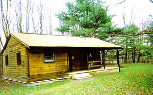 Hills Creek State Park -  One of the ten cabins available to rent at Hills Creek State Park.