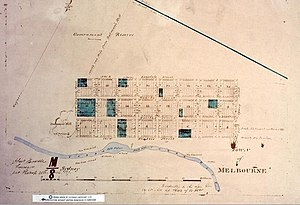 Robert Russell (architect) - Robert Hoddle's survey of the town of Melbourne in 1837.