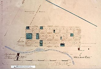 Hoddle Grid - Robert Hoddle's survey of the town of Melbourne in 1837.