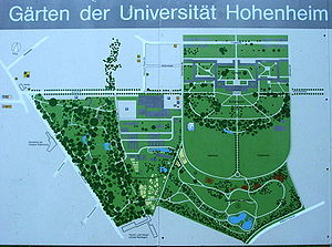 Hohenheim Castle - Image: Hohenheim gartenplan
