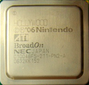 "Hollywood (graphics chip) - ATI ""Hollywood"" GPU within the Wii console"