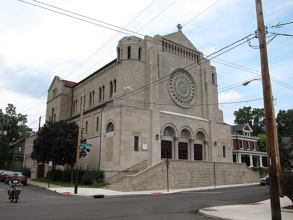 Holy Name Church (Columbus, Ohio) - exterior, corner of East Patterson and Adams