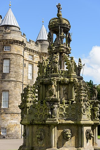 Holyrood Palace - Forecourt fountain