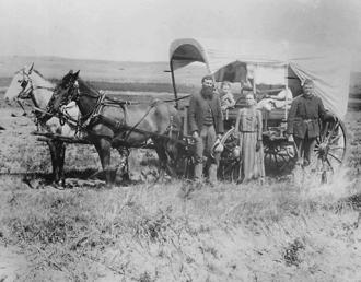 History of Nebraska - Homesteaders in central Nebraska in 1886