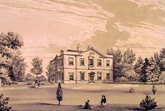 Hoole Hall - Hoole Hall in 1846