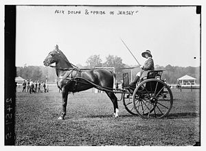 Piping Rock Club - Alix Dolan and Pride of Jersey circa 1912-1913 at the Piping Rock Horse Show