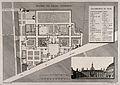 Hospice des Femmes Incurables, Paris; floor plan and facade. Wellcome V0014302.jpg