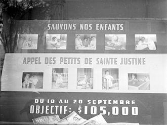 Centre hospitalier universitaire Sainte-Justine - 1945 Fundraising