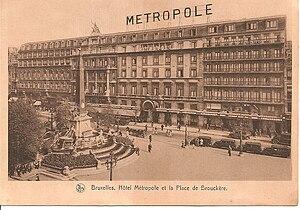 Hotel Metropole, Brussels - Hotel Metropole in the 1920s