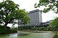 Hotel New Otani Saga and moat of Saga Castle.jpg