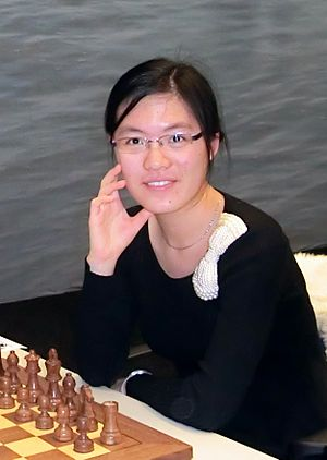 Women's event at the 42nd Chess Olympiad - Image: Hou Yifan 13a