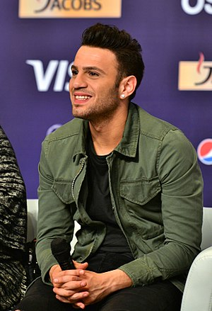 Cyprus in the Eurovision Song Contest 2017 - Hovig during a press meet and greet