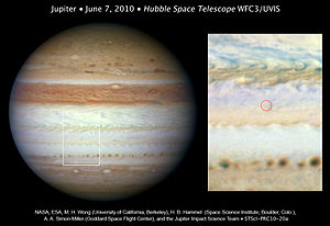 2010 Jupiter impact event - Observations made by NASA's Hubble Space Telescope