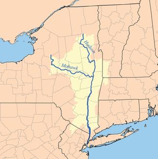 Einzugsgebiete von Hudson Rivers und Mohawk River