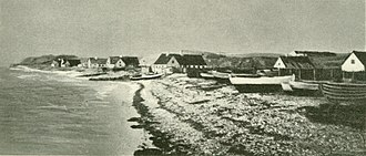 Hundested in about 1890 Hundested Havn (c. 1890).jpg