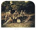 Hunter and his entourage in Balmoral, 1856.jpg