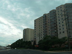 Huntington, Virginia - Apartment complex along US Rte. 1 in Huntington