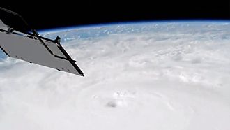Hurricane Matthew - The eye of Hurricane Matthew seen from the International Space Station on October 3.