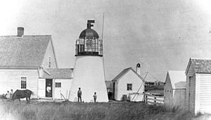 Hyannis Rear Range Light - The rear light with its original 1849 birdcage lantern.