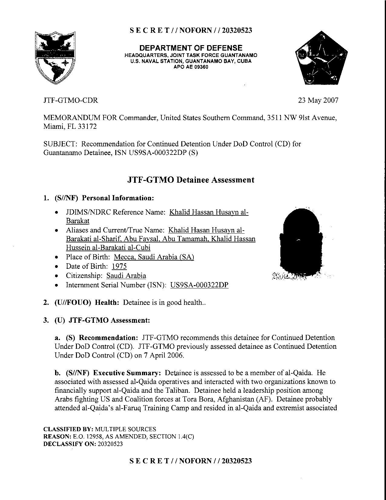 ISN 322's Guantanamo detainee assessment.pdf
