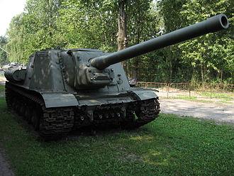 ISU-122 - ISU-122 at the Muzeum Polskiej Techniki Wojskowej in Warsaw