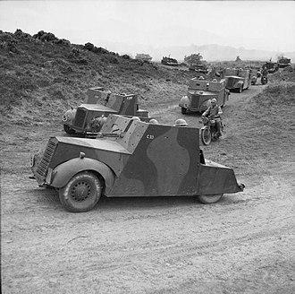 Standard Beaverette - Beaverettes of 53rd Reconnaissance Regiment  on manoeuvres in Northern Ireland, 1941