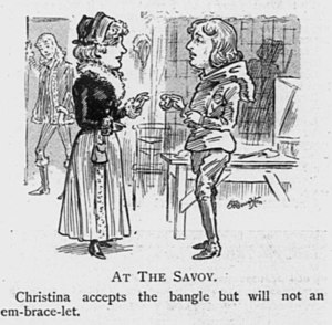 Ib and Little Christina - Drawing of 1901 production from Judy magazine