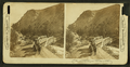 In the Gardiner River Canyon, Eagle's Nest Rock on left, Yellowstone Park, by H.C. White Co..png