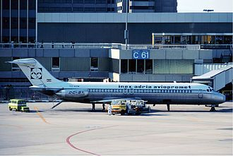 Adria Airways - Inex-Adria Douglas DC-9-33 at Frankfurt Airport in 1976