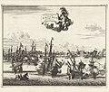 Inname van Cochin door Nederlandse V.O.C. schepen in 1682 Overwinningh van de Stadt Cotchin op de kust van Mallabaer (titel op object), RP-P-1936-40.jpg