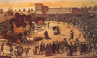 Persecution of Jews and Muslims by Manuel I of Portugal - Burning of Crypto-Jews in Lisbon, Portugal
